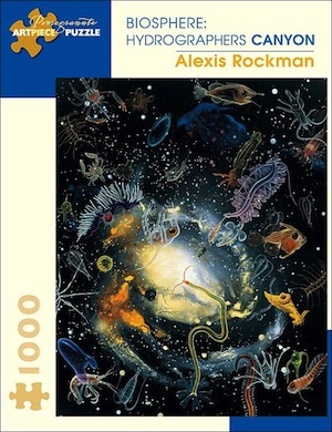 Alexis Rockman Biopsphere: Hydrographers Canyon Jigsaw Puzzle