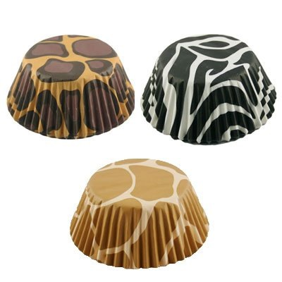 Animal Print Baking Cups