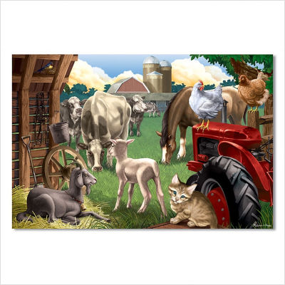 Animals on Barn Floor Puzzle