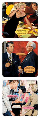 Ann Taintor Coasters - Drinks After Work? Why Wait That Long?