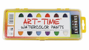 Art Time 16-Count Watercolor Pan Set with Brush