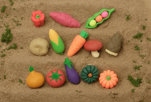 Assorted Vegetable Erasers