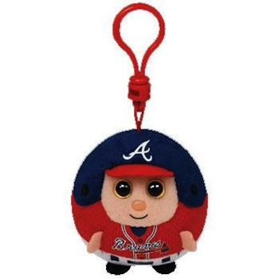 Beanie Ballz Atlanta Braves Key Clip