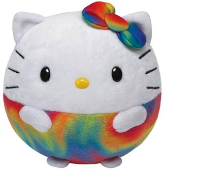 Beanie Ballz Hello Kitty Rainbow 13""