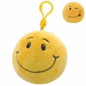 Beanie Ballz Smiley Key Clip