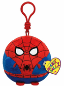 Beanie Ballz Spiderman Key Clip
