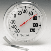 "Big Read/Black on White 6"" Dial Thermometer"