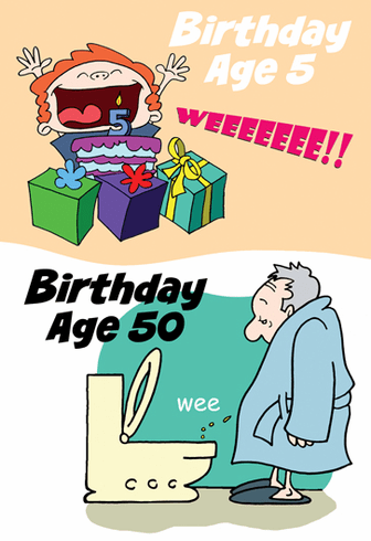 Birthday Age 5 VS 50