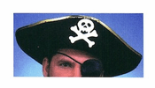 Black and Gold Pirate Hat