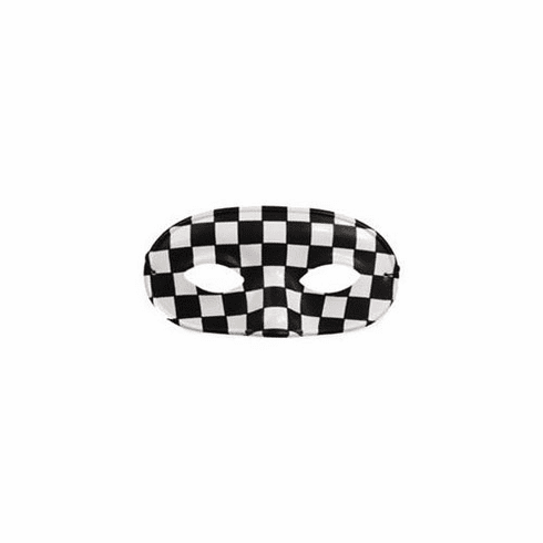 Black and White Checkered Mask