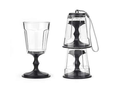 Black Stackable Wine Glasses