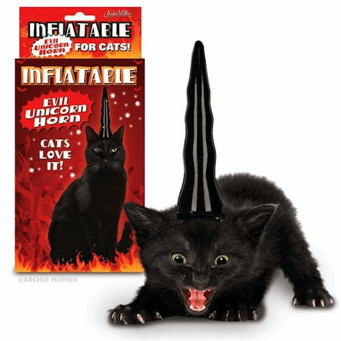 Black Unicorn Horn for Cats