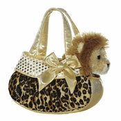 Blingy Leopard Print Fancy Pet Carrier