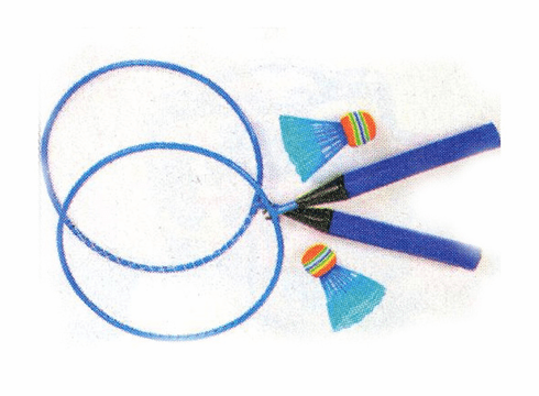 Blue Badminton Set