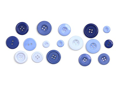 Blue Button Pushpins
