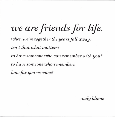 Blume - We Are Friends For Life