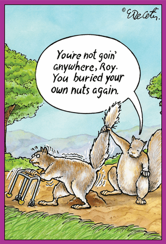 Buried Nuts Birthday Card