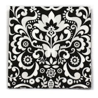 Butterfly Damask Beverage Napkins