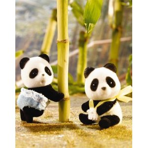 Calico Critters 1508 Wilder Panda Bear Twins