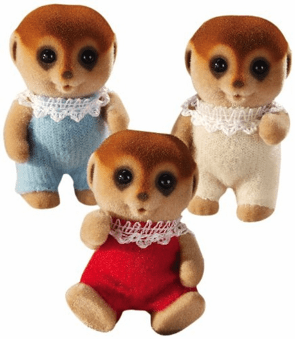 Calico Critters 1573 Spotter Meercat Triplets