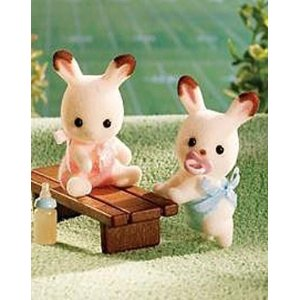 Calico Critters 1643 Hopscoth Rabbit Twins