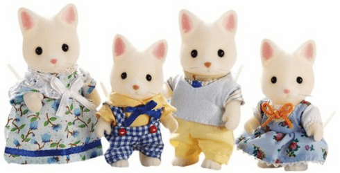 Calico Critters 1693 Silk Cat Family