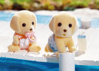 Calico Critters 2019 Yellow Labrador Twins