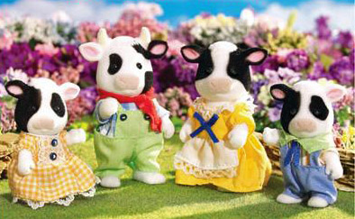 Calico Critters 2022 Friesian Cow Family