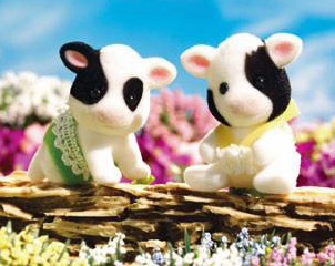 Calico Critters 2023 Friesian Cow Twins