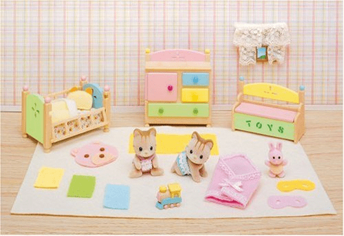 Calico Critters 2261 Tanner & Tallulah's Nursery Fun Time