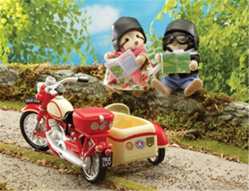 Calico Critters 2320 Motorcycle & Side Car