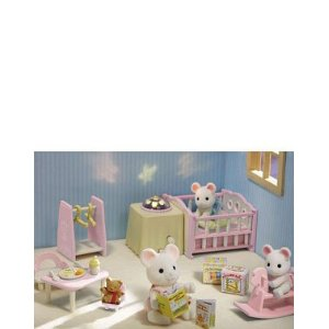 Calico Critters 2597 Nightlight Nursery Set
