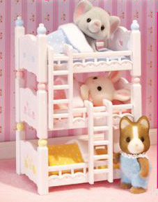 Calico Critters 2624 Triple Baby Bunk Beds