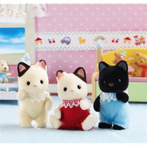 Calico Critters 9542 Tuxedo Cat Triplets