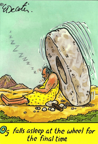 *Cave Man and Wheel Rock