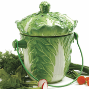 Ceramic Lettuce Compost Crock