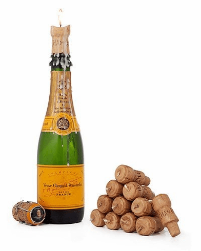 Champagne Cork Candles