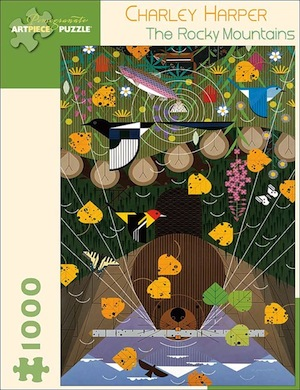 Charley Harper: The Rocky Mountains Jigsaw Puzzle