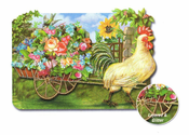 CHICKEN WITH FLOWER CART