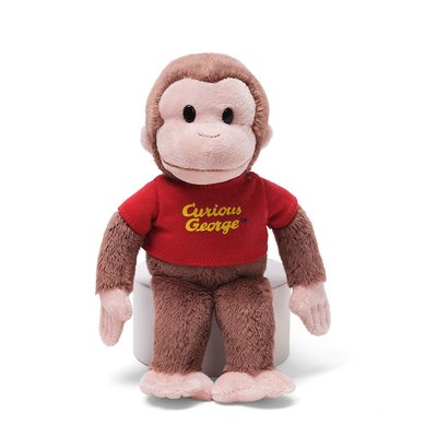 Classic Curious George in Red Shirt 8""