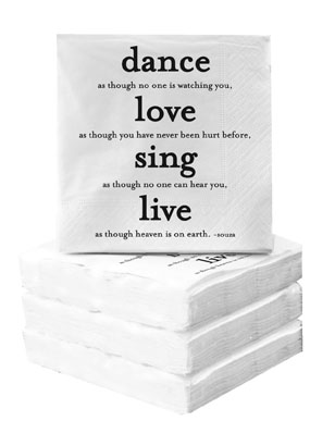 Cocktail Napkins - Dance Love Sing