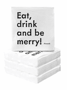 Cocktail Napkins - Eat, Drink, and Be Merry