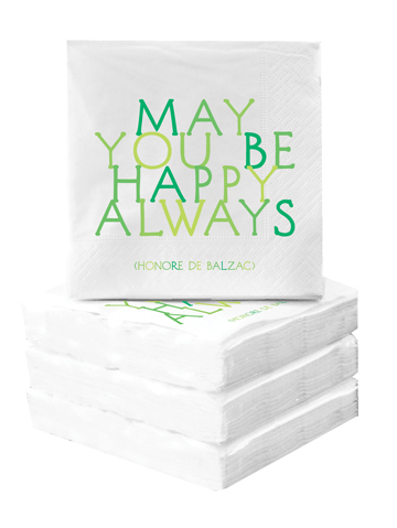 Cocktail Napkins - May You Be Happy Always