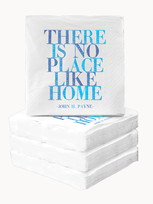 Cocktail Napkins - There Is No Place Like Home