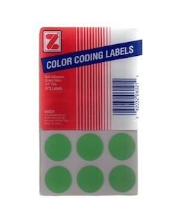 Color Coding Labels - Green