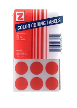 Color Coding Labels - Red