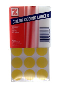 Color Coding Labels - Yellow
