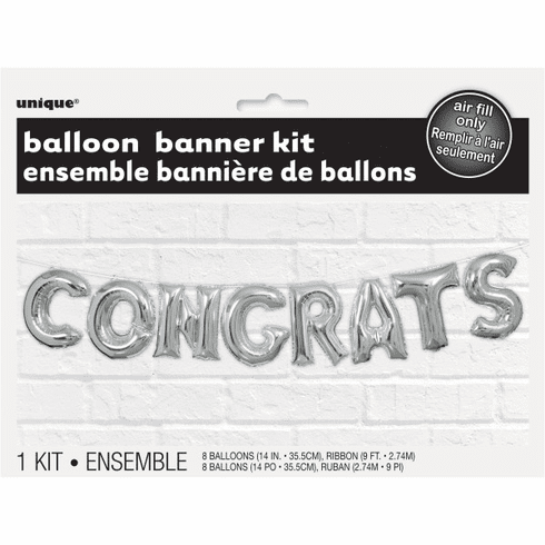 Congrats Air-Filled Balloon