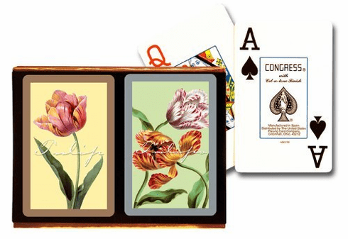 Congress Tulips Jumbo Index Playing Cards