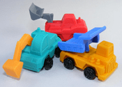 Construction Vehicles Erasers